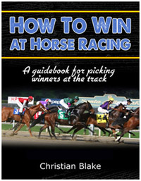 how to win at horse racing by christian blake